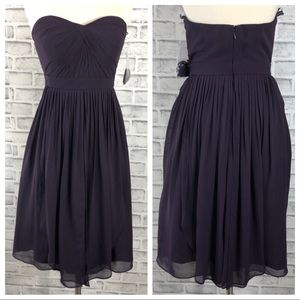 Jenny Yoo Collection plum Strapless dress